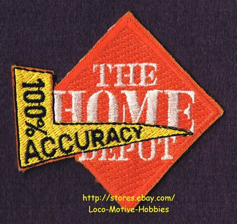 List Of Gift Cards Sold At Home Depot - lmh patch badge home depot cashier 100 accuracy uniform transaction award ebay