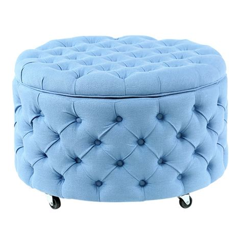 duck egg blue ottoman large duck egg blue jessica storage ottoman temple webster