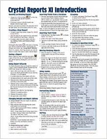 Book Report Cheats Crystal Reports Xi Quick Reference Guide Introduction