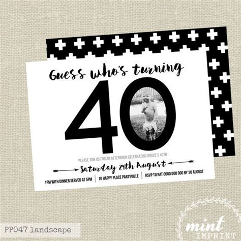 40th birthday invites templates best 25 40th birthday invitations ideas on