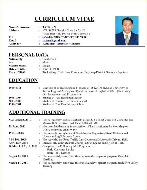 Example Of A Good Resume For A College Student by 6 Writing A Cv For A Job Format Basic Job Appication Letter