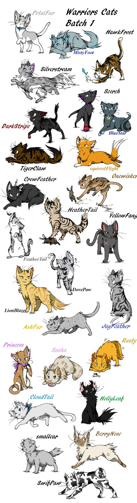 F Anime Names by Anime Warrior Cat Drawings Your Cat