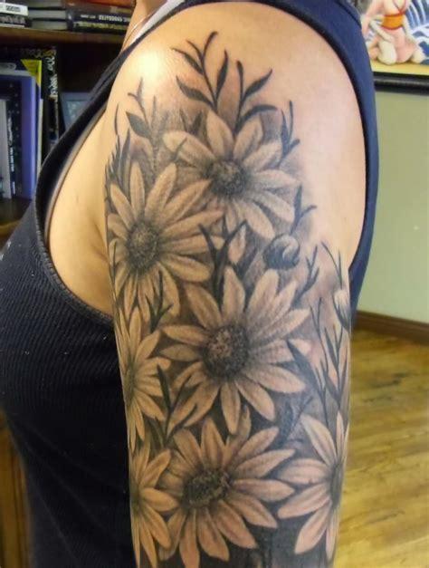 black and grey daisy tattoos black and grey daisy tattoos tattoo fantastic