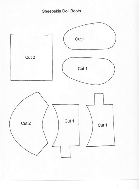 free patterns for american doll shoes sheepskin boots pattern american doll clothes and