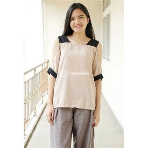 Baju Atasan Wanita Terbaru Az Sabrina White baju sabrina cewek adistia cutout terbaru tahun 2016 harga murah bandung dijual tribun