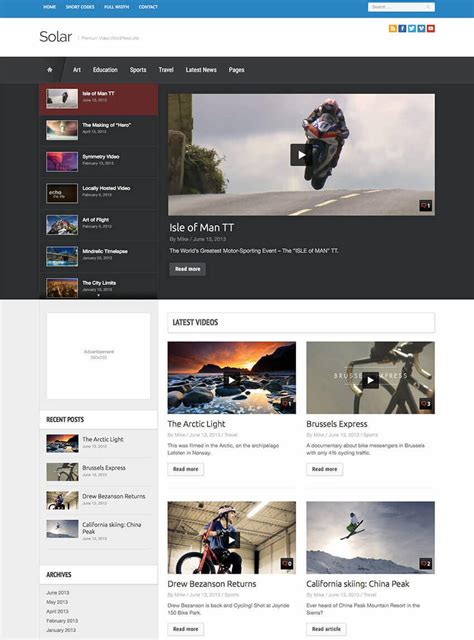 20 gorgeous wordpress gallery themes 20 best wordpress video themes with beautiful gallery and