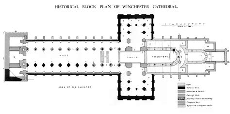 floor plan of cathedral winchester cathedral plans and drawings