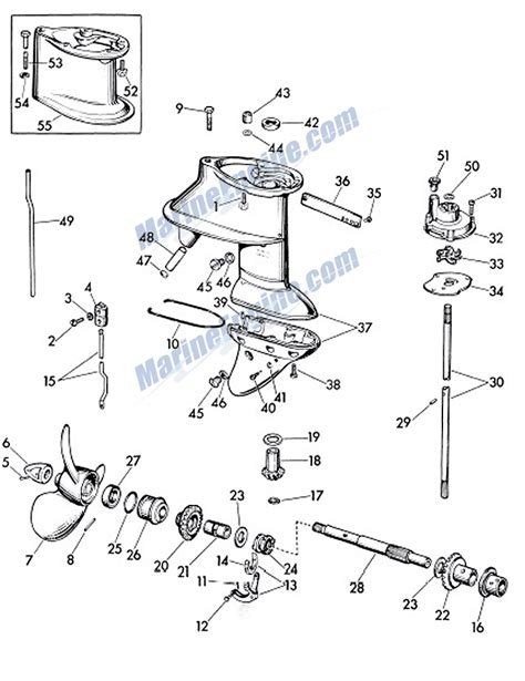 evinrude parts diagram evinrude fastwin gear parts for 1960 18hp 15033