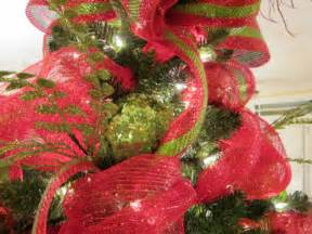 Decorating Tree With Mesh Ribbon » Home Design 2017