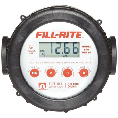 Flowmeter Fill Rite Made In Usa Size 1 1 2 fill rite tuthill 820 20 gpm digital flow meter with lcd