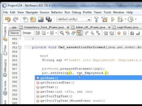 Java Netbeans Sqlite Tutorial | java prog 14 how to insert save data from netbeans java
