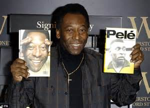 biography pele pele gets teary as he unveils 163 1 000 book daily mail online