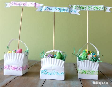 easter basket craft washi easter crafts free printable