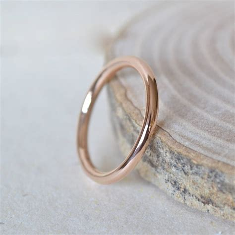 2mm gold wedding band by notes notonthehighstreet