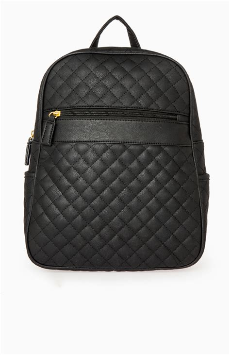 Quilted Back Pack by Quilted Backpack In Black Dailylook