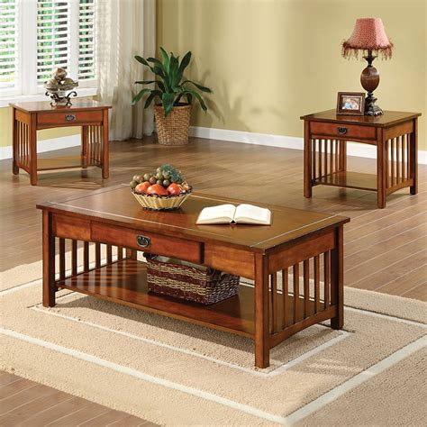 furniture of america cm4245 3pk seville coffee table set