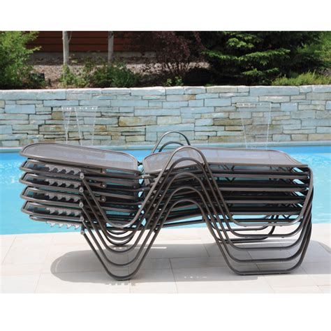 homecrest florida mesh stackable chaise furniture for patio