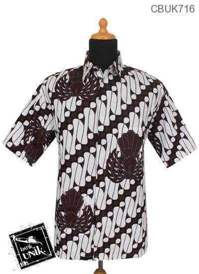 Batik Printing Berbahan Katun Primisima Dengan Motif Parang Prada kemeja batik katun motif parang gurdo kemeja lengan pendek murah batikunik