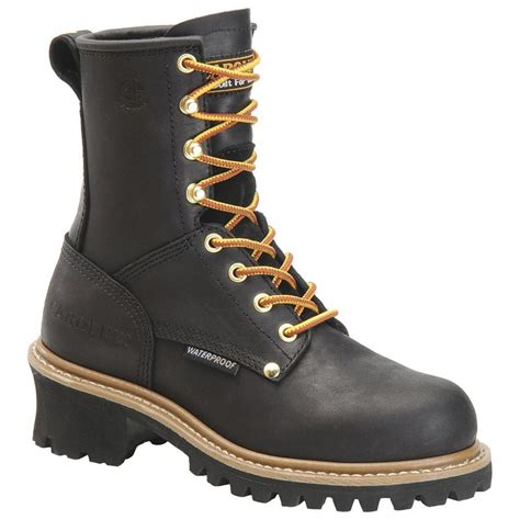 womans boots s carolina 174 waterproof steel toe logger boots