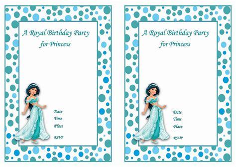 printable jasmine birthday invitations princess jasmine birthday invitations birthday printable
