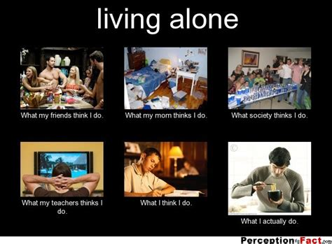 What I Do Meme - living alone what people think i do what i really do