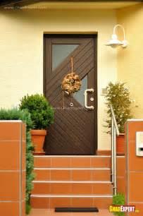 Modern Kitchen Window Curtains by Main Entrance Door Design In Dark Brown Wood Gharexpert