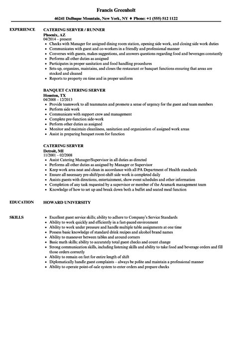 Catering Resume by Fashioned Caterer Resume Gallery Universal For