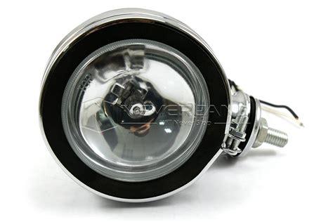 Fog L Karimun Kotak Universal 10cm 4 quot motorcycle halogen h3 headlight fog lights l for harley custom bobber new ebay
