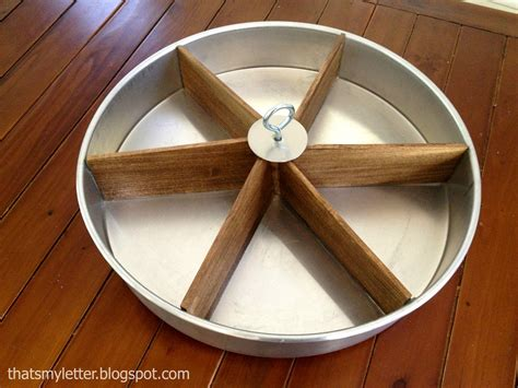 lazy susan that s my letter diy tabletop lazy susan