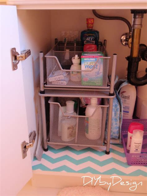 under the bathroom sink storage solutions diy by design under sink storage solutions
