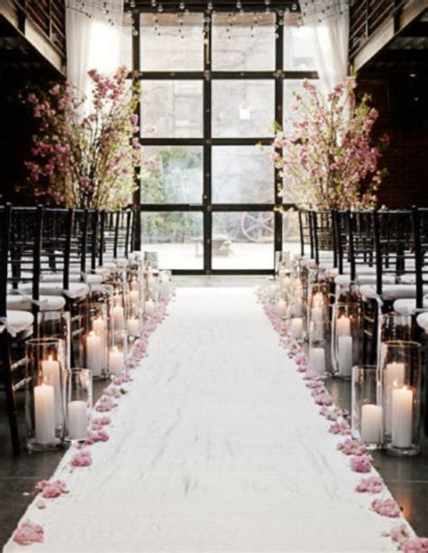 indoor wedding ceremony aisle decor Archives   Weddings