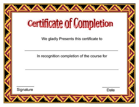 training completion certificate template latter day snapshot course