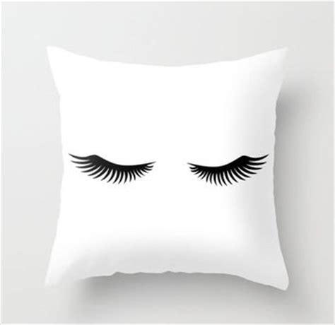 eyelash throw pillow on the hunt