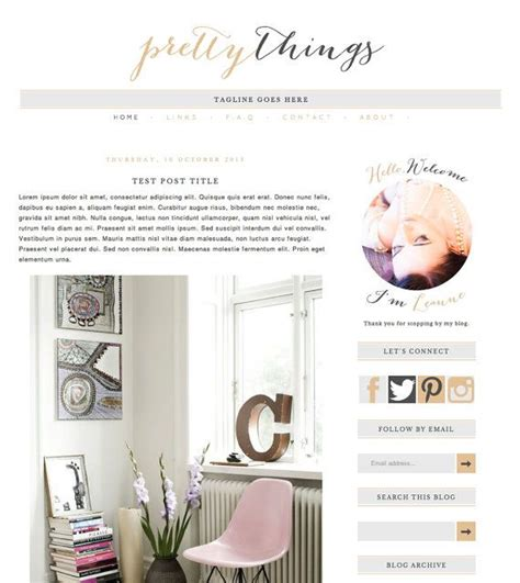 attractive templates for blogger 23 best images about blog template on pinterest feminine