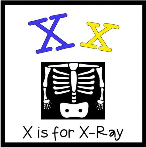 free printable x rays 1000 images about x preschool activities on pinterest