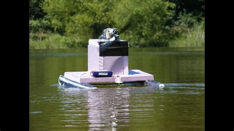rc boats with camera camera on the rc pontoon boat youtube