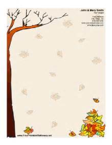 free stationery design templates autumn stationery