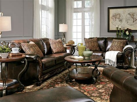 Traditional Leather Living Room Sets by Charisma Traditional Brown Bonded Leather Sofa Set Living Room Furniture Ebay