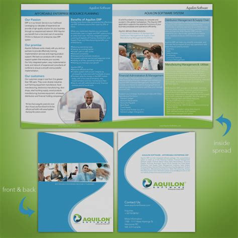2 page brochure template best 2 page brochure design a two fold in photoshop