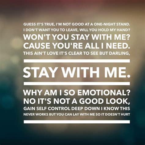 printable lyrics sam smith stay with me stay with me lyrics fav song lyrics pinterest sam
