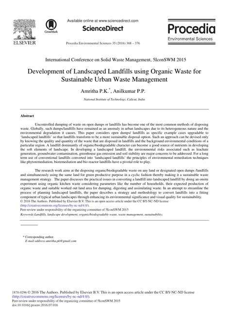 urban growth and waste management optimization towards development of landscaped landfills using pdf download