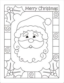 5 Christmas Coloring Cards Merry Christmas Merry Card Coloring Pages