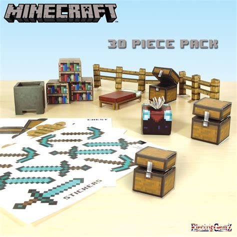Minecraft Papercraft Utility Pack - minecraft paper craft 30 utility pack