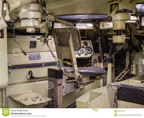 armored vehicles inside inside a tank editorial photo image of