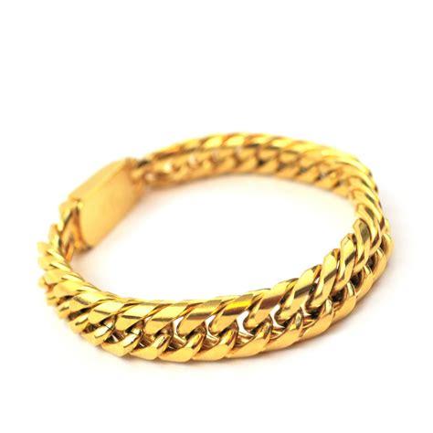 cuban link bracelet the gold gods jewelry