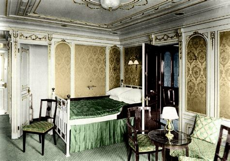 first class bedrooms colorized photos of the titanic 17 photos old pics
