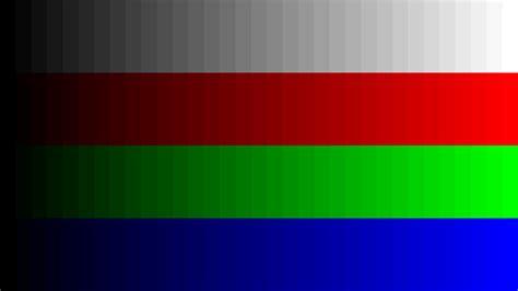 test pattern rgb video output rate and rgb range blz la