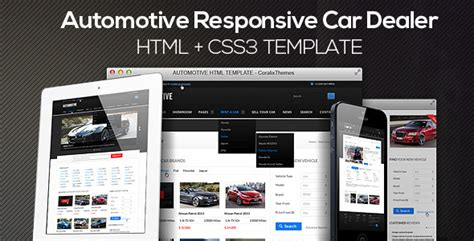 themes html css3 automotive cars dealer responsive html5 css3 by