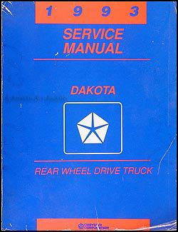 1993 dodge dakota repair shop manual original 1993 dodge dakota repair shop manual original