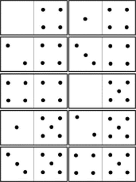 printable domino cards dominoes a printable game enchantedlearning com